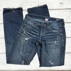 Silver Jeans Lola Straight, Women's 26, L33